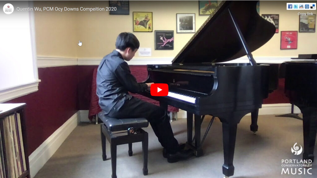 Quentin Wu performs