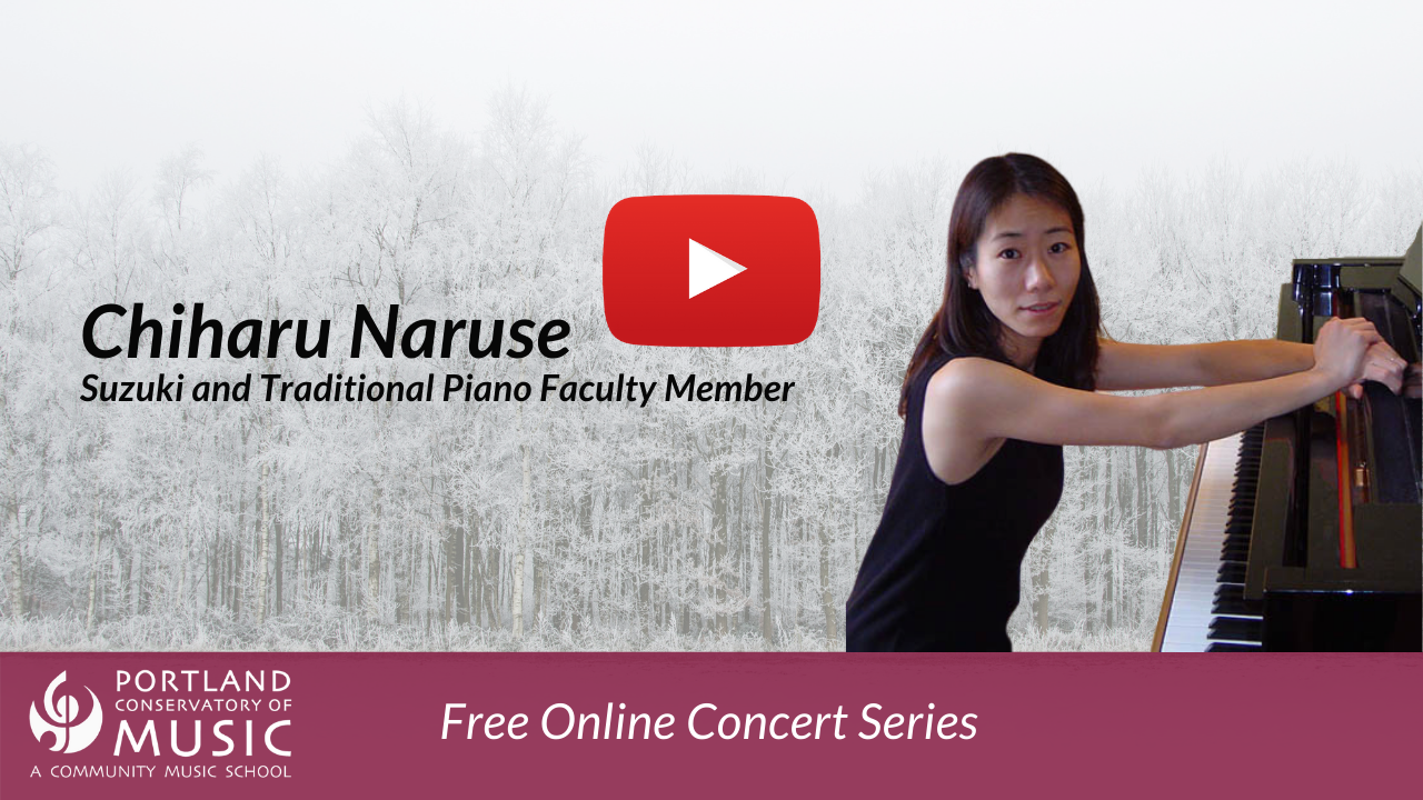 Chiharu Natuse performs on piano