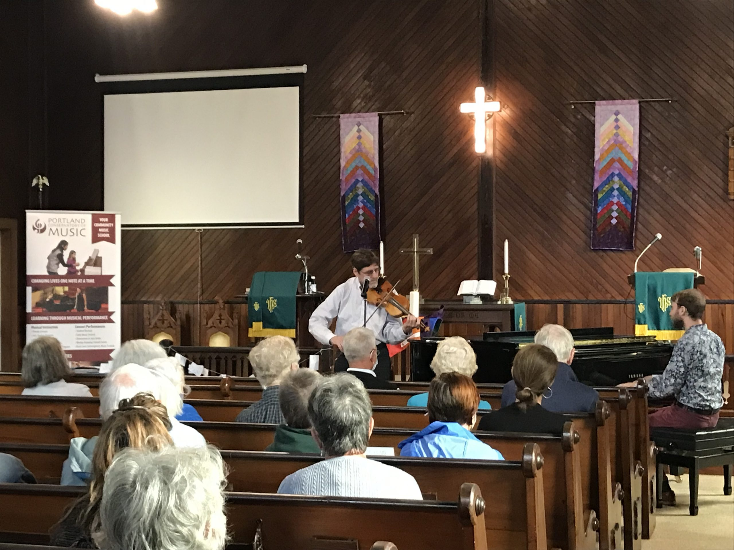Ed and Neal Pearlman perform on Chebeague Island